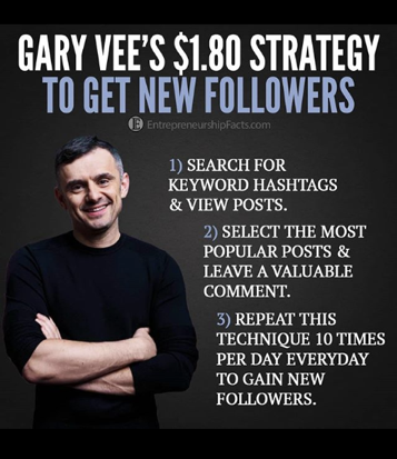 Gary Vee's Instagram followers strategy