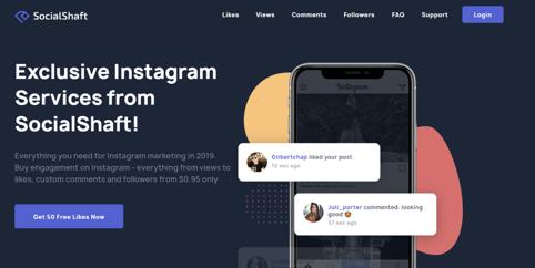 SocialShaft's main page
